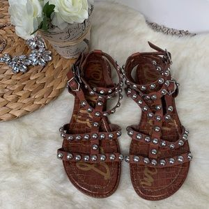 Sam Edelman Eavan Brown Gladiator Sandals US 6